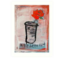 Improved painting of a Rose in a Glass Art Print