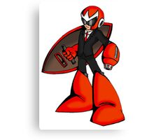 Protoman in a black tux  Canvas Print