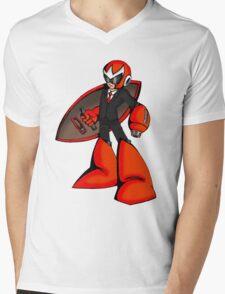 Protoman in a black tux  Mens V-Neck T-Shirt