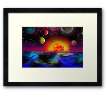 Sunset on Ocean Blvd Framed Print