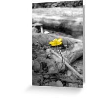 Flower Saga - Yellow Greeting Card