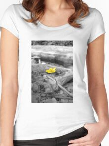 Flower Saga - Yellow Women's Fitted Scoop T-Shirt