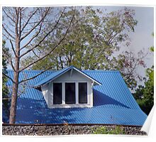 Gable On Blue Roof Poster