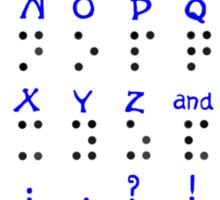 The Braille Alphabet. Sticker