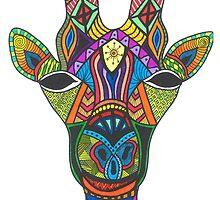Bright Beautiful Giraffe! by TallgirlArt