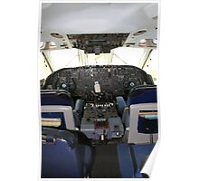 Vickers VC10 airliner Cockpit Poster