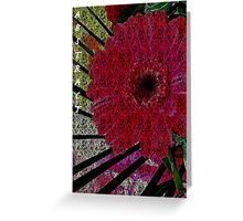 Abstract Red Flower Greeting Card