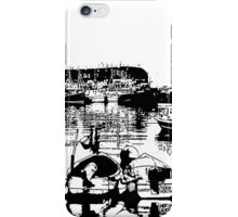 Black and white harbour iPhone Case/Skin