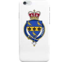 Coat of arms (family crest) for last-name or surname Stacey or Stacye (England) . Heraldry banner for your name. iPhone Case/Skin