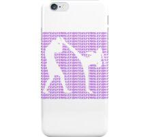 Female Fighter Kickboxer Spinning Back Kick Purple  iPhone Case/Skin