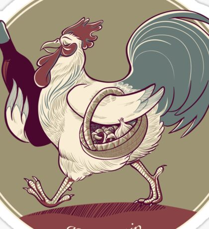 Coq au Vin Sticker