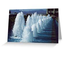 A fountain in Izmir. Greeting Card