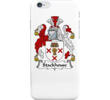 Coat of arms (family crest) for last-name or surname Stackhouse . Heraldry banner for your name. iPhone Case/Skin
