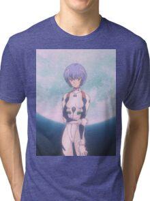 Neon Genesis Evangelion - Rei Ayanami Moon - 2015 1080p Blu-Ray Cleaned Upscales Tri-blend T-Shirt
