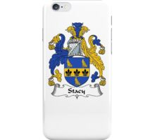 Coat of arms (family crest) for last-name or surname Stacy (e) . Heraldry banner for your name. iPhone Case/Skin
