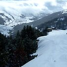 Skiing down a mountian in Andorra by samh0731