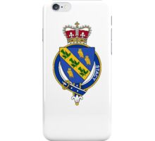 Coat of arms (family crest) for last-name or surname Stacy (Scotland) . Heraldry banner for your name. iPhone Case/Skin
