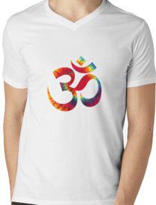 Tie-Dye Om Mens V-Neck T-Shirt
