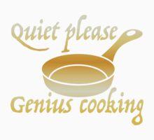 Quiet please GENIUS COOKING Baby Tee