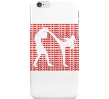 Female Fighter Kickboxer Spinning Back Kick Red  iPhone Case/Skin