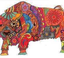 Bright Beautiful Buffalo! by TallgirlArt
