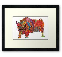 Bright Beautiful Buffalo! Framed Print