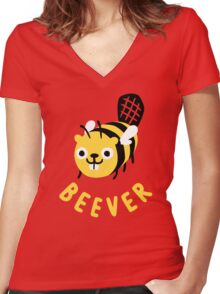 Beever Women's Fitted V-Neck T-Shirt