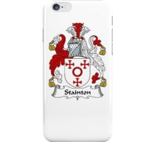 Coat of arms (family crest) for last-name or surname Stainton . Heraldry banner for your name. iPhone Case/Skin