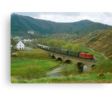 Historical train in the Ahr Valley, Germany, 1980s Canvas Print