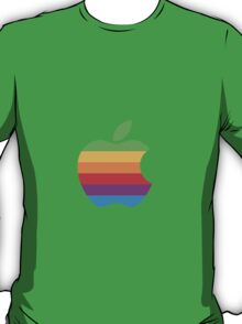 Rainbow Apple Logo - Louis Tomlinson T-Shirt