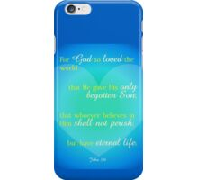 For God So Loved iPhone Case/Skin