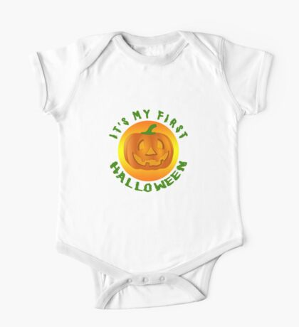 IT's MY FIRST HALLOWEEN for BABY One Piece - Short Sleeve
