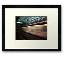 Swoosh, DC Metro Framed Print