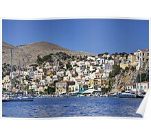 Houses on Symi Poster