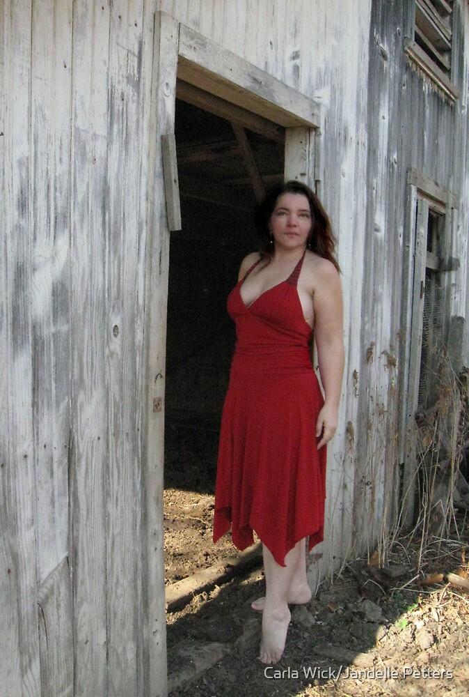 Barefoot In A Red Dress by Carla Wick/Jandelle Petters