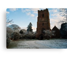 St Edburga church, Leigh, Worcestershire Canvas Print