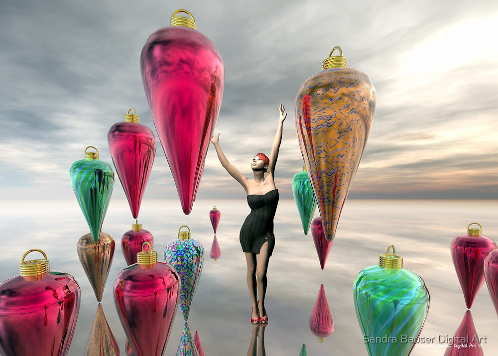Decorating for the Holidays by Sandra Bauser Digital Art