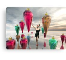 Decorating for the Holidays Canvas Print