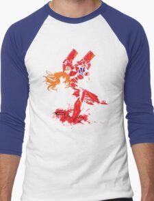 Evangelion Unit-02 Men's Baseball ¾ T-Shirt