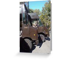 Brown Trucks Greeting Card
