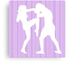 Female Fighter Kickboxer Punch and Knee Purple  Canvas Print