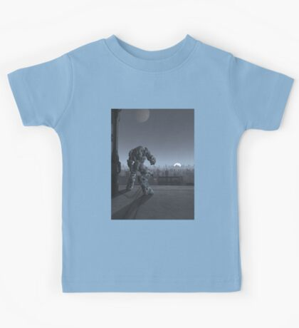 Future City - Robot Sentinel at Moon Rise Kids Tee