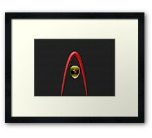 Scudetto Black ~ Ferrari lover Framed Print