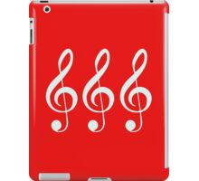 Music Note Staff Treble Clef T-Shirt Pattern Duvet Musical Bedspread Quilt iPad Case/Skin