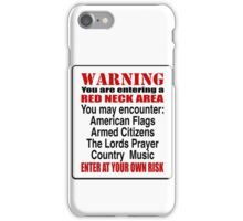 Redneck Area iPhone Case/Skin