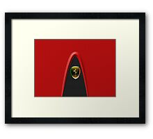 Scudetto Red ~ Ferrari lover Framed Print