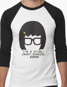 Tina Belcher: I'm a Sting, Smart, Sensual Woman (Simple Print) Men's Baseball ¾ T-Shirt