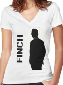 FINCH Women's Fitted V-Neck T-Shirt