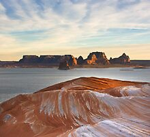 sandstone patterns- Lake Powell by David Chesluk