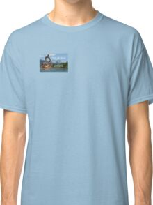 Not all Those who Wander are Lost, Tolkien, LOTR (scenic background) Classic T-Shirt